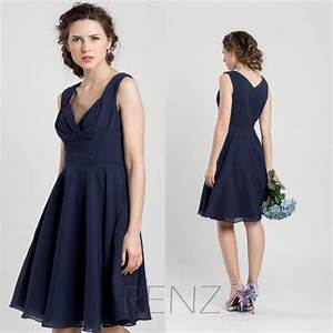 2015 Navy Blue Bridesmaid Dress, Short Wedding Dress ...