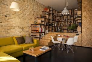 creative home interiors fantastic view of home library inside the kiev home interior with brick wall olpos design