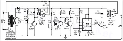 Voltage Stabilizer High Low Cutoff Circuit