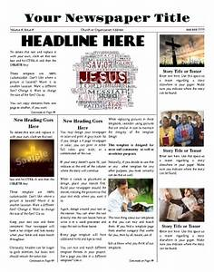 create your own newspaper template - free newspaper templates print and digital