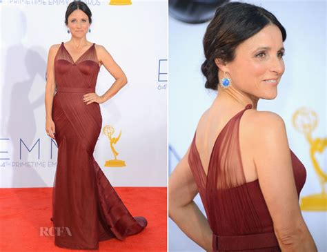 actress julia vera julia louis dreyfus in vera wang 2012 emmy awards red