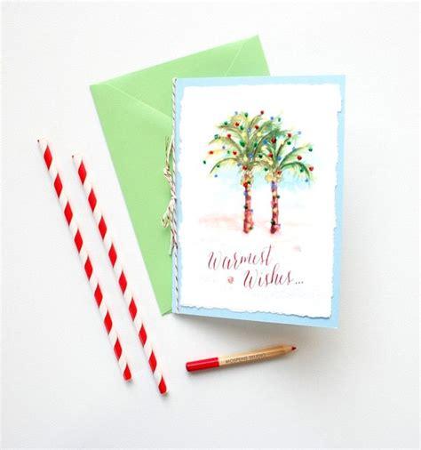 handmade palm trees christmas card mospens studio custom