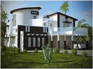 Modern Minimalist Home Exterior Paint Color Scheme
