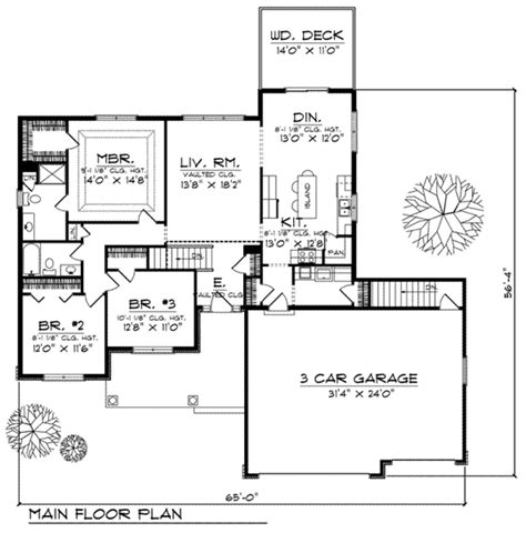 traditional style house plan 4 beds 3 baths 2490 sq ft