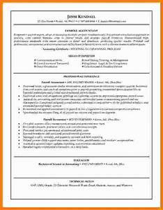 Resume Template Accountant 5 Payroll Accountant Resume Technician Salary Slip