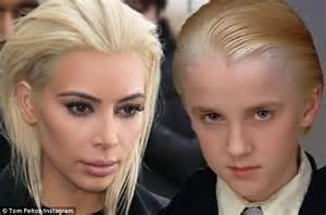 Tom Felton jokes Kim Kardashian with Draco Malfoy likeness ...