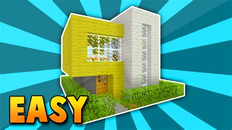 minecraft small easy modern house tutotrial xboxpsxboxoneps youtube