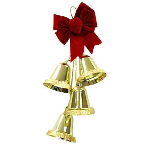 large gold christmas bells trim a home 174 27 quot 4 large gold glitter edge
