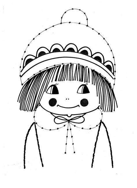 coloriage vintage fille  ans dessin gratuit  imprimer