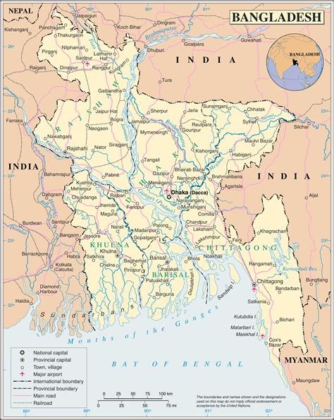 maps  bangladesh detailed map  bangladesh  english
