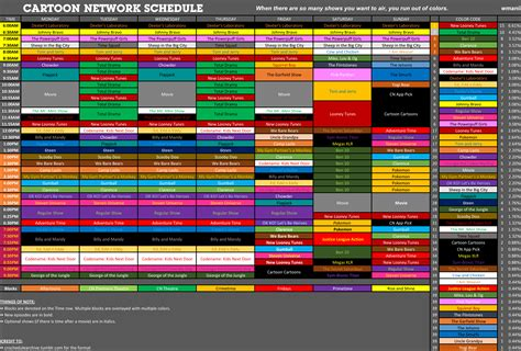 Official Cartoon Network Fantasy Schedule Thread