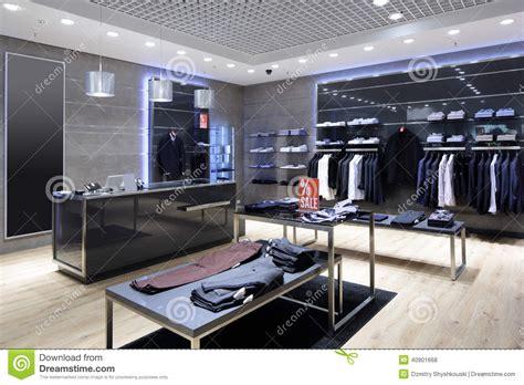 Brand New Interior Of Cloth Store Royaltyfree Stock Image