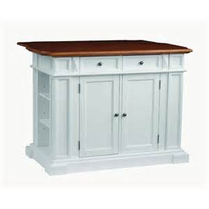 Kitchen Island Styles Home Styles Traditions Distressed Oak Drop Leaf Kitchen Island In White 5002 94 The Home Depot
