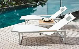 bain de soleil et transat design terrasse et With transat de piscine design