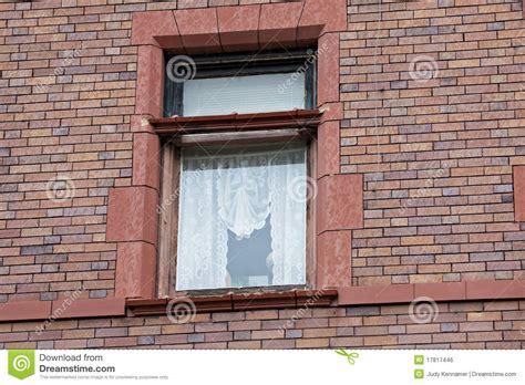 tende merletto finestra con le tende di merletto fotografia stock