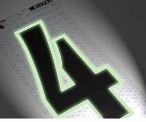 Brady39s new 3 series ultra reflective glow in the dark for Glow in the dark numbers and letters
