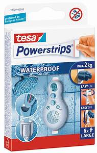 Tesa Powerstrips Waterproof : tesa 59700 tesa powerstrips waterproof strips large at reichelt elektronik ~ Orissabook.com Haus und Dekorationen