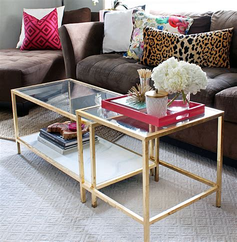 DIY Tuesday: Easy Gold Ikea Coffee Table Hack   BetterDecoratingBibleBetterDecoratingBible