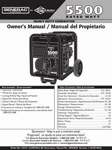 Generac Heavy Duty Generator 1654 0 Owners Manual 1654 0es1
