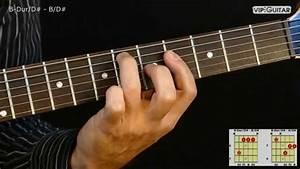 Gitarrenakkorde  B-dur  D  - B  D  Chord