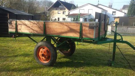 traktor anhänger gebraucht einachser traktor anh 228 nger einachser mit manuellen kipper