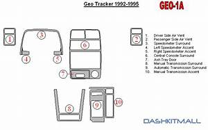 Geo Tracker 92 93 94 95 Dash Trim Kit Dashboard Wood Carbon 1992 1993 1994 1995