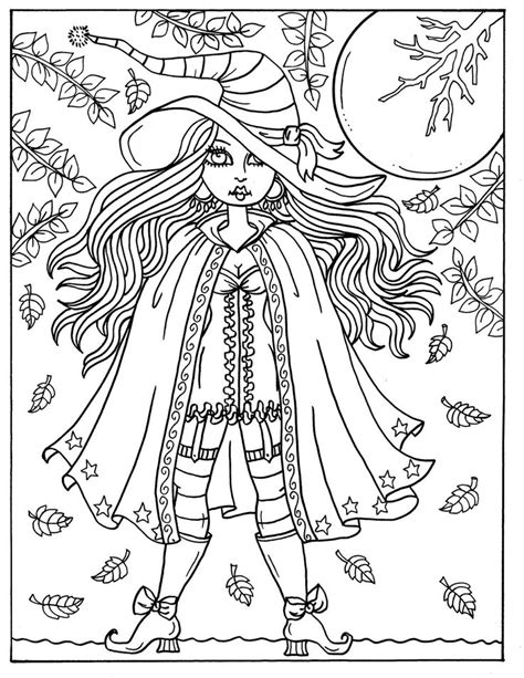 hocus pocus witches printable coloring pages  adults