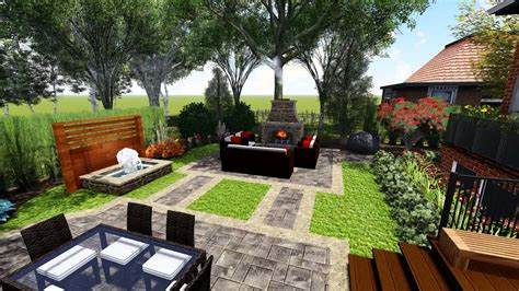 Outdoor Patio Landscaping by Proland Landscape Design Concept Small Backyard