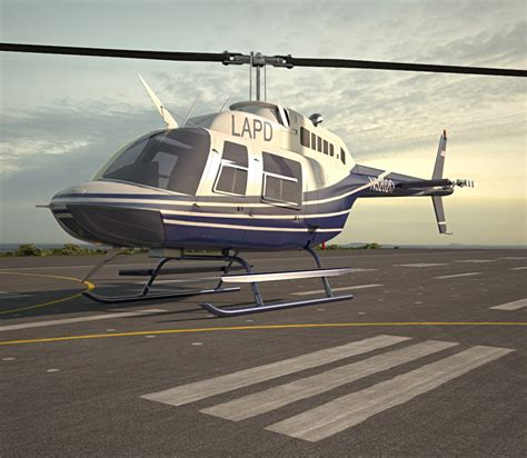 3d planer möbel bell 206 3d model aircraft on hum3d