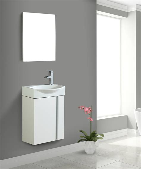 fine fixtures compacto small bathroom vanity set  sink