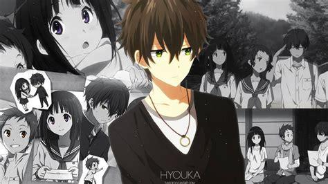 anime like hyouka with more romance hyouka wallpaper by tussor on deviantart