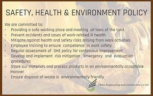 Safety  Health  U0026 Environment Policy