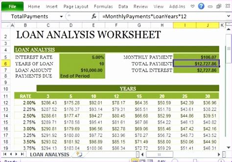 6 Loan Repayment Calculator Excel Template  Exceltemplates Exceltemplates