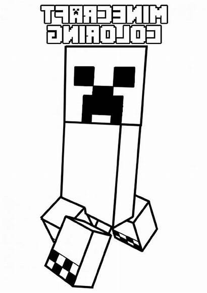 Creeper Minecraft Coloring Printable Worksheets Freecoloringpages Via