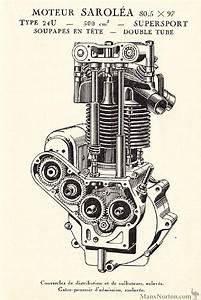 Sarolea 1929 24u 500cc Engine Ohv