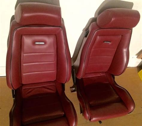 Car Upholstery For Sale by Recaro Leather Burgundy Seats Classic Seat