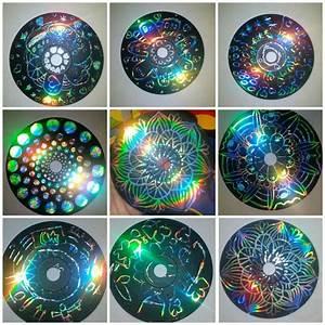 Mit Cds Basteln : kratzbilder aus alten cds cd mit acrylfarbe anmalen trocknen lassen und mit etwas spitzem ~ Frokenaadalensverden.com Haus und Dekorationen