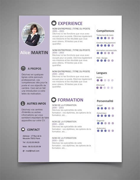 Template De Cv Gratuit by Cv 34 Maxi Cv Model Cv Resume Template Free Best