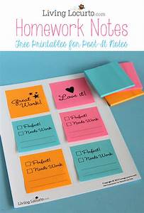 print on post it notes free printables for school homework With how to print on post it notes