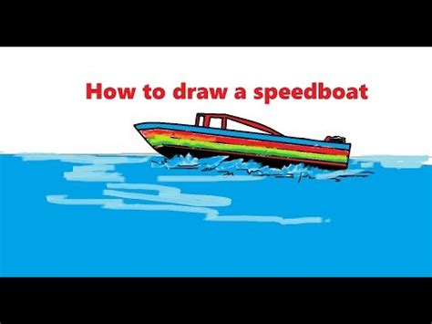 How To Draw A Speedboat by How To Draw A Speedboat For Step By Step Easily