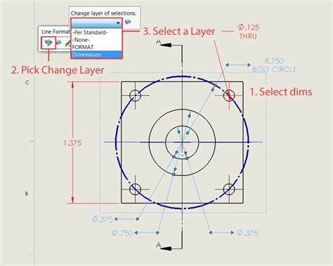 how to change a solidworks drawing dimension colour