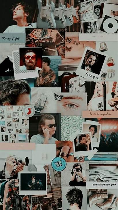 Direction Harry Aesthetic Collage Wallpapers Fondos Lockscreen