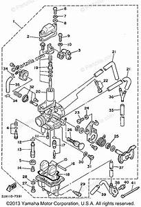 Yamaha Motorcycle 1995 Oem Parts Diagram For Carburetor California Only