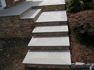 Bluestone Steps With Natural Stone Risers And Front Patio