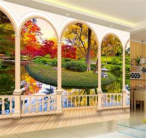 Papier Peint Trompe L Oeil 3d : 56 best papier peint 3d paysage images on pinterest 3d wall murals eyes and home living room ~ Preciouscoupons.com Idées de Décoration