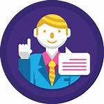 Consultant Icon Employee Icons Staff Agent Flat