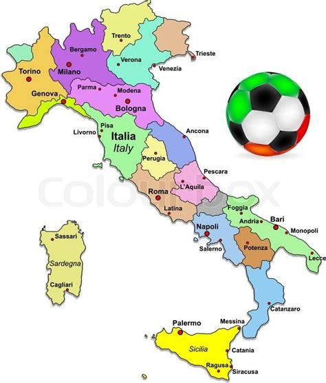 italy italien landkarte flagge aufkleber italien fu 223 karte vektorgrafik colourbox ital