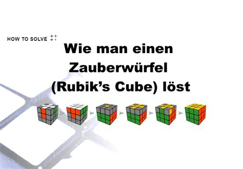 wie man einen zauberwuerfel rubiks cube loest
