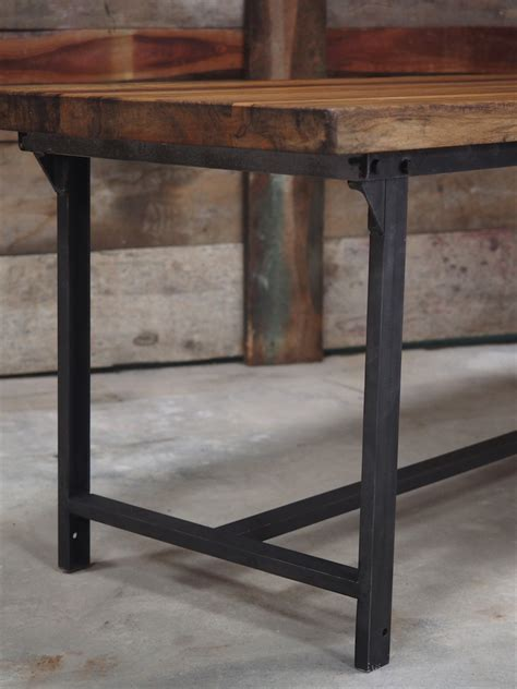 plateau de bureau bois table ou bureau metal industriel militaire plateau bois massif