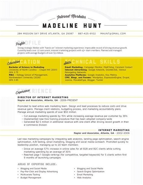 Using I In A Resume by How To Use The Resume Format 2016 Resume Editing Service